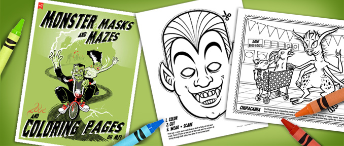 Monster Coloring Pages at Big Fun Toy Store
