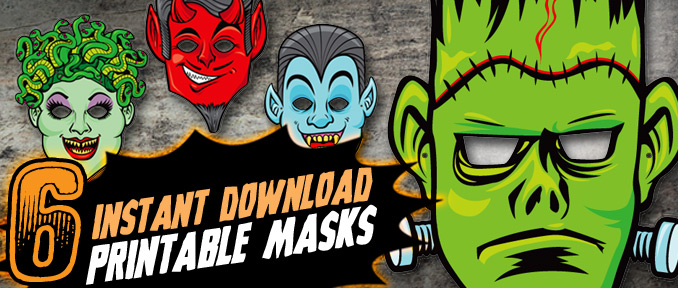 Printable Halloween Masks mwa ha ha ha