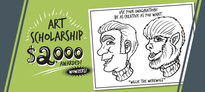 2 weeks left to apply for the Zinggia Art Scholarship