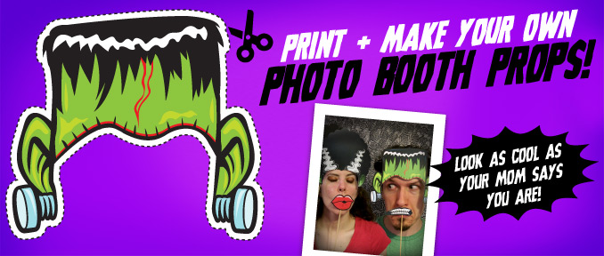 Halloween Photo Booth Props… Mwa Ha Ha Ha!