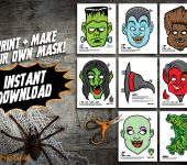 Printable Monster Masks